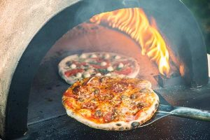 hot tasty wood fired pizza